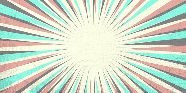Tira de quadrinhos pop art radial em fundo de cor clara