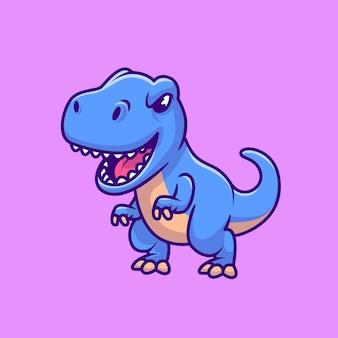 Tiranossauro rex azul fofo