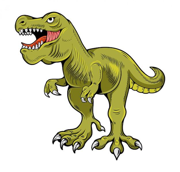Tiranossauro rex cartoon ilustração