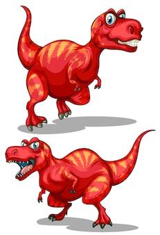 Tiranossauro rex com dentes afiados