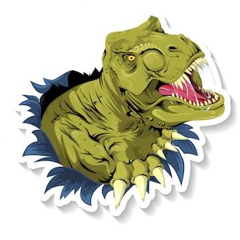 Tiranossauro t rex rasgando