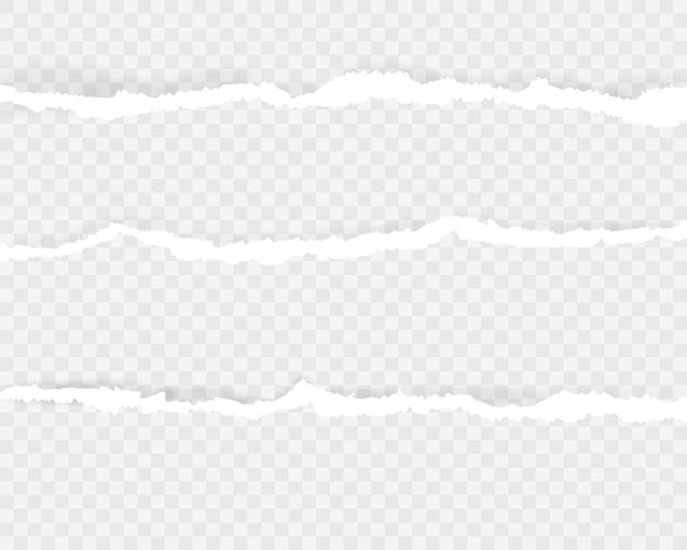 Tiras de papel rasgado