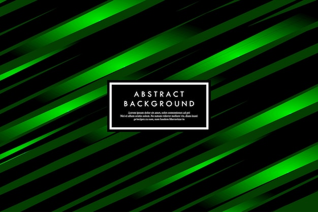 Tiras verdes modernas abstraem formas geométricas