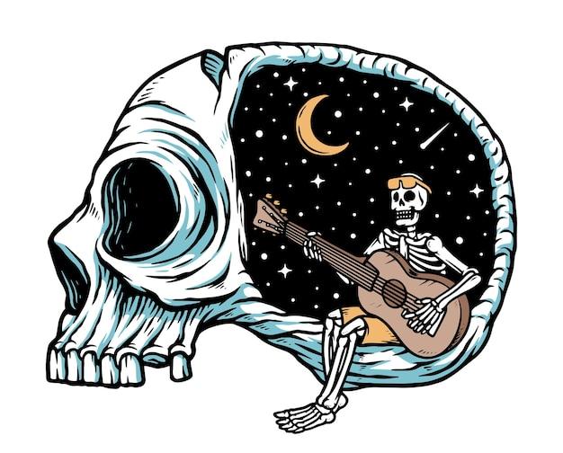 Tire um tempo para tocar ilustração de violão