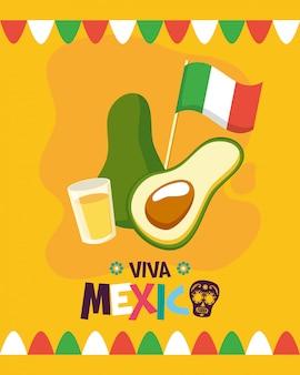 Tiro de abacate e tequila