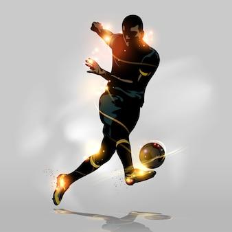 Tiro rápido futebol abstrato