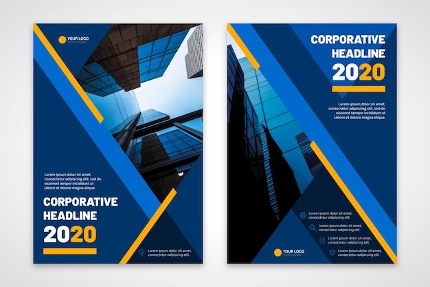 Título corporativo de panfleto de negócios 2020