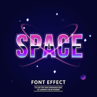 Título do espaço sideral moderno tipo de letra editável futuro efeito de texto