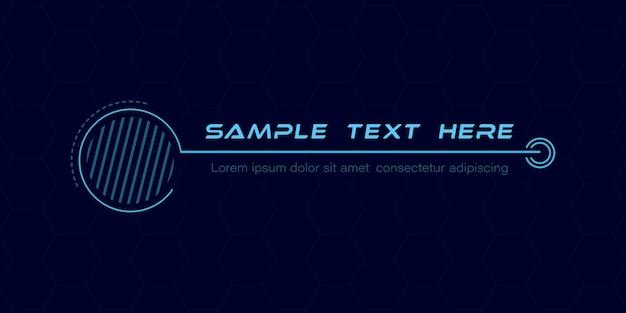 Títulos de legendas digitais conjunto de modelo de quadro futurista de sci fi hud elemento de layout para infográficos de brochura na web banners modernos do terço inferior para apresentação isolada em vetor amarelo