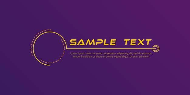 Títulos de legendas digitais conjunto de quadro futurístico de ficção científica do hud banners modernos do terço inferior