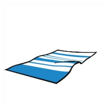 Toalha de praia no verão