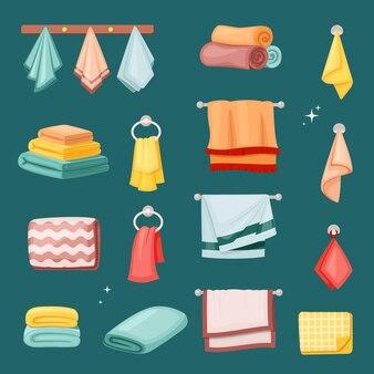 Toalhas de banho e conjunto de cozinha