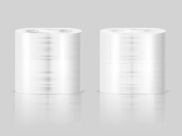 Toalhas de papel rolos de papel higiênico realista