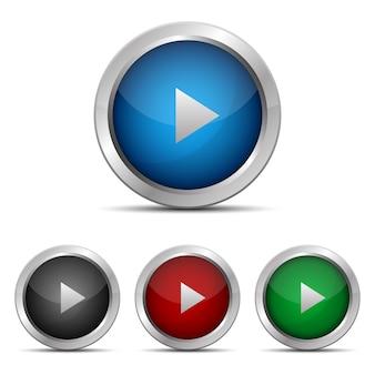 Tocar botão design ilustração isolada no fundo
