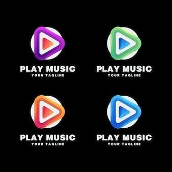 Tocar conjunto de logotipo de música
