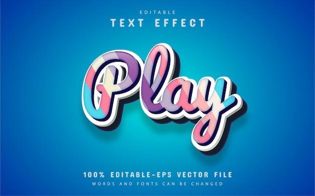 Tocar texto, efeito de texto estilo doce