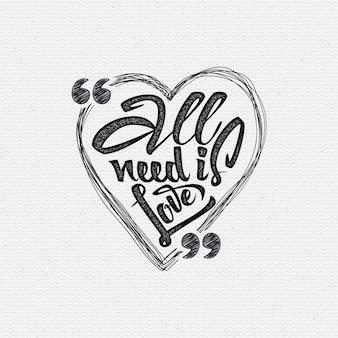 Toda sua necessidade é amor