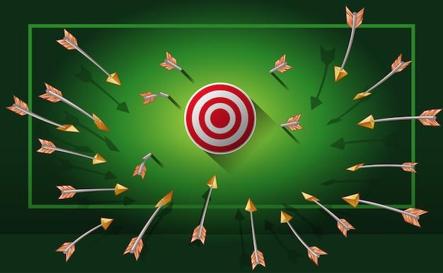 Todas as flechas estão indo para o gol.