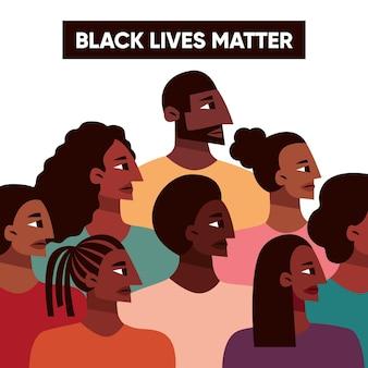 Todas as vidas importam multidão de pessoas
