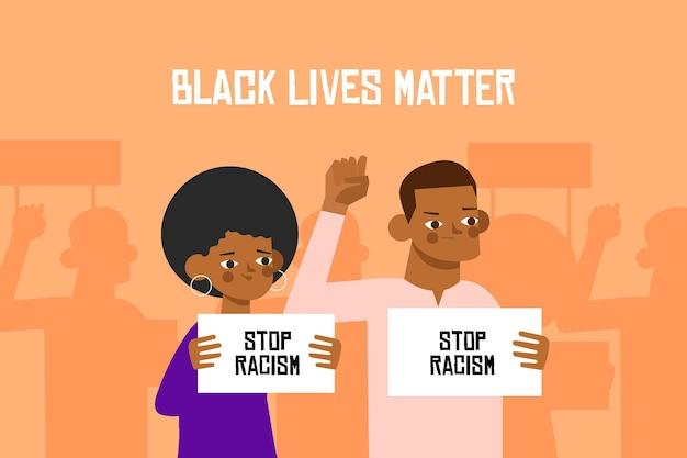 Todas as vidas importam pessoas negras protestando