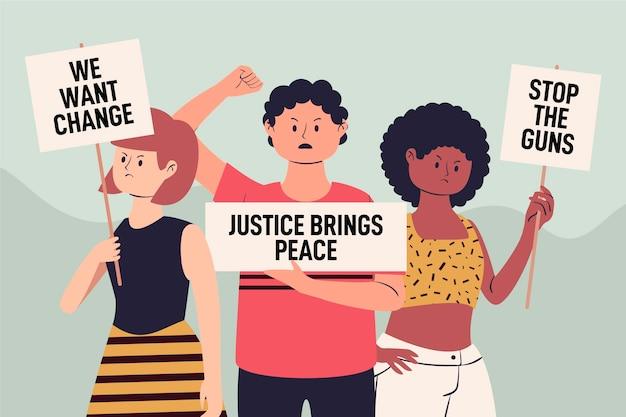 Todas as vidas importam pessoas protestando contra o conceito