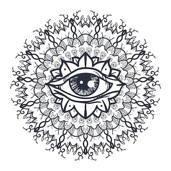 Todo olho vendo em mandala