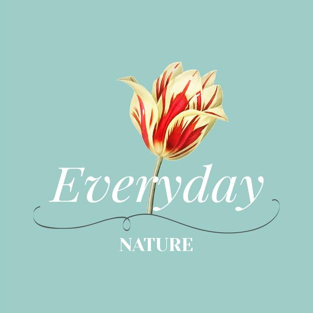 Todos os dias natureza vector design de logotipo