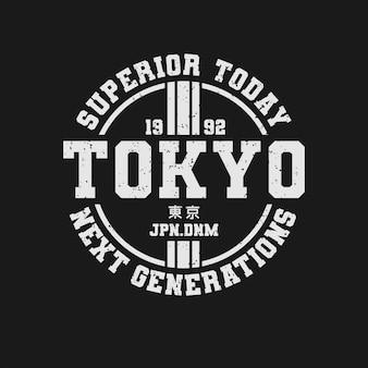 Tokyo tipografia tshirt design premium vector