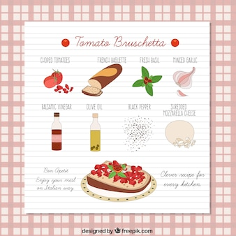 Tomate bruschetta receita