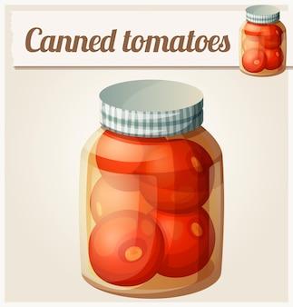Tomates enlatados.