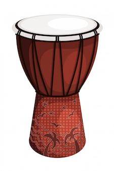 Tomtom tambor marrom estilo tribal