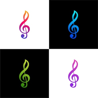 Tone music gradient color