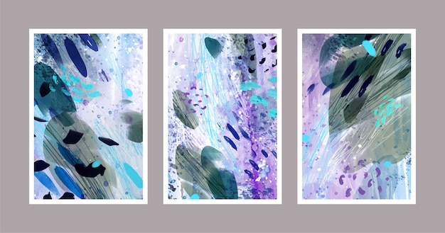 Tons abstratos de cores frias cobrem
