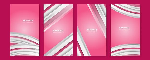 Tons brancos luxuosos de fundo rosa em estilo abstrato 3d, conceito de dia dos namorados, ilustração vetorial sobre modelo moderno de design de luxo