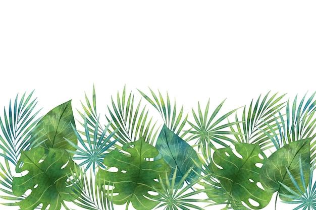 Tons de papel de parede mural tropical verde