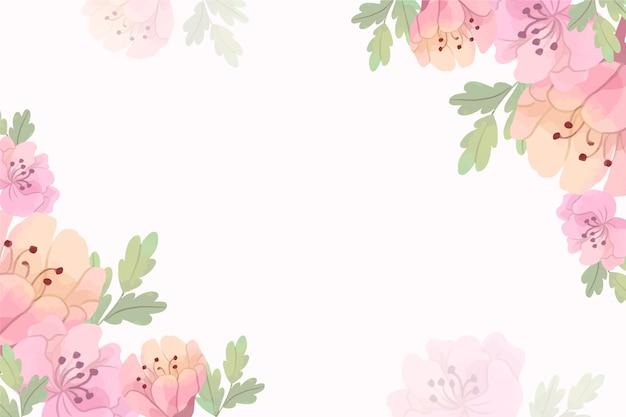 Tons de pastel e fundo floral