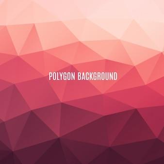 Tons de vermelho fundo poligonal