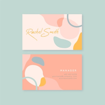 Tons rosa de manchas de cor pastel cartão de visita