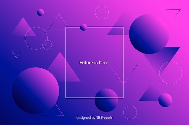Tons violetas e roxos de triângulos e esferas