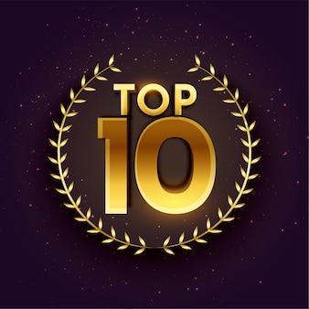 Top 10 dos melhores emblemas na cor dourada
