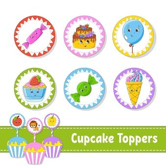 Toppers de cupcake