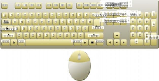 Topview mouse, teclado