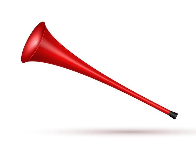 Torcedor de futebol do trompete de vuvuzela. símbolo de fã de jogo de esporte de vetor futebol com design de vuvuzela ou trompete.