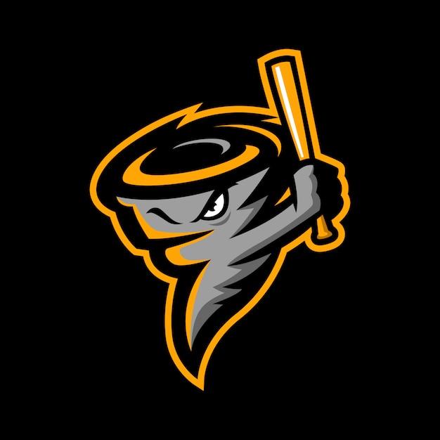 Tornado baseball sport logo