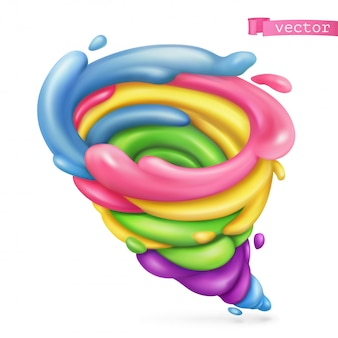Tornado doce. 3d