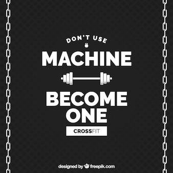 Torne-se o fundo do crossfit da máquina