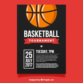 Torneio de basquete panfleto