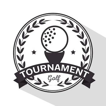 Torneio de golfe e logotipo do clube