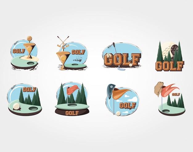 Torneio de golfe troféu de ouro