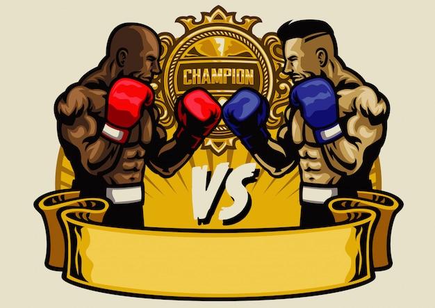 Torneio de luta de boxe